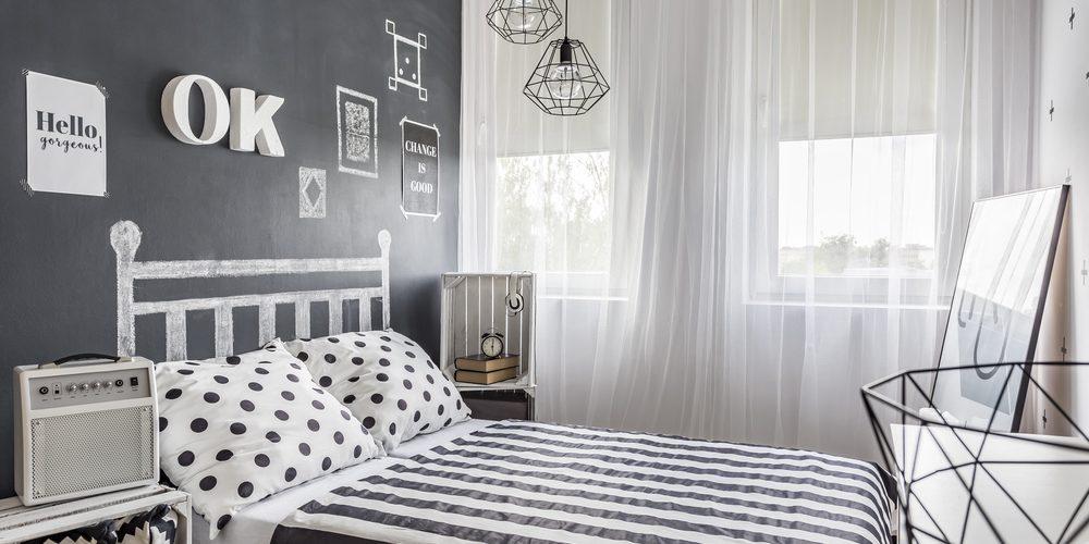 Küçük Yatak Odası için Akdeniz Tarzı Dekorasyon