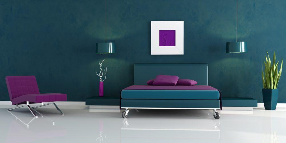 Mor Yatak Odası Dekorasyon İle Gelsin Huzur
